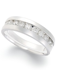 Macy's Diamond Band Ring In 14K White Gold 1 Ct. T.W.