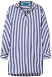 Mih Jeans M.I.H Oversized Striped Cotton Shirt Blue