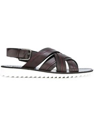 Dolce And Gabbana Laced Sandals Brown