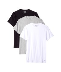 Kenneth Cole Reaction 3 Pack Classic Fit Crew Neck Tee White Grey Heather Black T Shirt