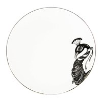 Rory Dobner Perfect Plates Paloma Peacock Black And White
