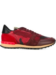 Valentino Garavani Panelled Sneakers Red