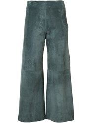 Adam By Adam Lippes Cropped Trousers Women Lamb Skin 2 Grey