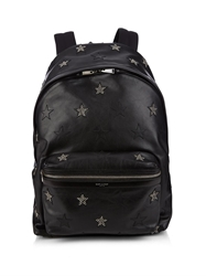 Saint Laurent Star Embroidered Leather Backpack