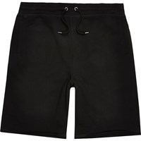 River Island Mens Black Longer Length Jogger Shorts
