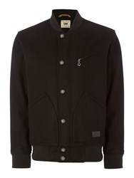 Lee Baseball Collar Bomber Jacket Black