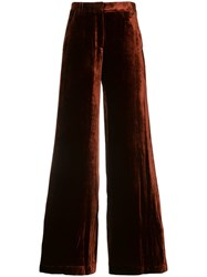 A.L.C. Crushed Velvet Trousers Red