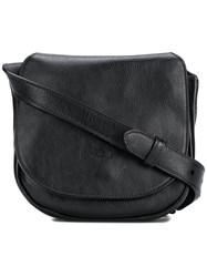 Il Bisonte Foldover Top Crossbody Bag Black