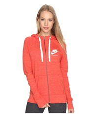 Nike Gym Vintage Full Zip Hoodie Max Orange Sail Women's Sweatshirt