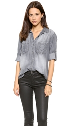 Bella Dahl Pocket Shirt Steel Grey