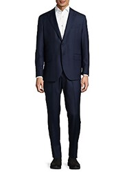 Lubiam Impeccable Wool Suit Navy
