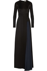 Issa Vanka Two Tone Silk Jersey Gown