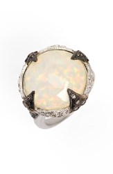 Armenta Women's New World Opal And Diamond Ring