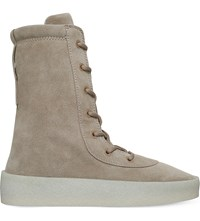 Yeezy Crepe Suede Ankle Boots Beige