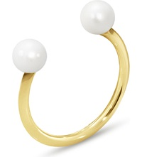 Georg Jensen Neva 18Ct Yellow Gold Pearl Ring