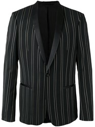 The Kooples Gold Striped Blazer Black
