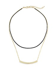 Jules Smith Designs Cord Necklace Black Gold