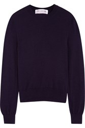 Comme Des Garcons Girl Bow Intarsia Knitted Sweater Navy