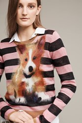 Anthropologie Pupped Pullover Pink
