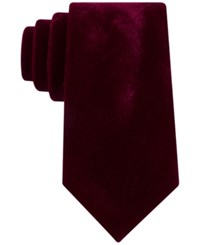 Sean John Men's Velvet Tie Burgundy