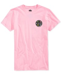 Maui And Sons Men's Arnold Sharkley Graphic Print Logo T Shirt Pink