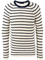 Roberto Collina Striped Top Nude Neutrals
