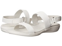 Trotters Gina White Soft Tumbled Leather Women's Sandals