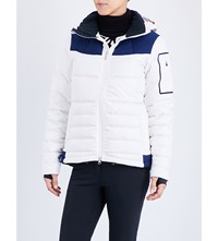 Perfect Moment Amak Quilted Shell Ski Jacket Snow White Navy