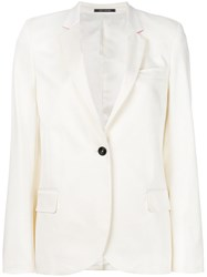 Paul Smith Ps By Single Breasted Blazer White