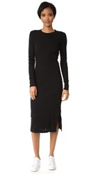 Cotton Citizen Monaco Midi Dress Jet Black Destroy