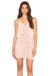 T Bags Losangeles Domino Tie Front Micro Mini Dress Tan
