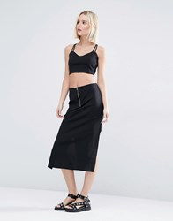 Weekday Co Ord Skirt With Zip Black
