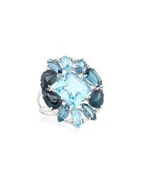 Vianna B.R.A.S.I.L 18K Blue Topaz And Diamond Cocktail Ring Women's