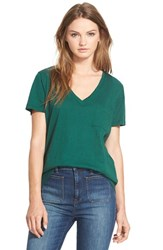 Madewell Women's 'Whisper' Cotton V Neck Pocket Tee Bowling Green