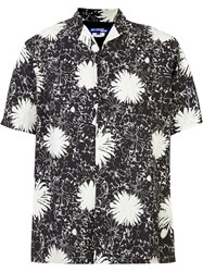 Comme Des Garcons Junya Watanabe Short Sleeve Floral Shirt Black