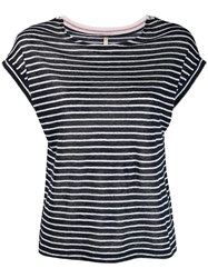 Bellerose Striped T Shirt Blue