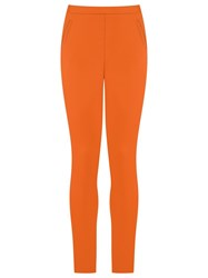 Andrea Marques Slim Fit Trousers Yellow Orange