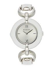 Gucci Stainless Steel Bamboo Watch Silver