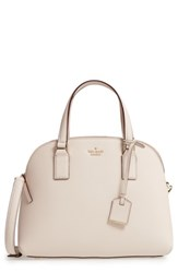 Kate Spade New York Cameron Street Lottie Leather Satchel Ivory Tusk