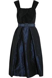 Vivienne Westwood Moon Silk Crepe De Chine And Taffeta Dress Black