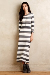 Maeve Sabilene Striped Midi Dress Grey Motif