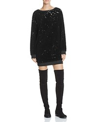 Kendall And Kylie Velvet Sequin Tunic Black