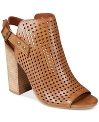 Mojo Moxy Dolce By Dalston Perforated Slingback Sandals Women's Shoes Cognac