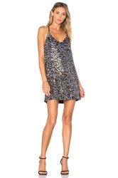 Kendall Kylie Multi Sequin Dress Metallic Silver
