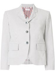 Thom Browne Classic Single Breasted Sport Coat With Half Lining In Grey
