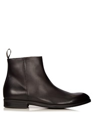 Ermenegildo Zegna Leather Chelsea Boots Black