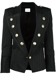 Balmain Pierre Fitted Blazer Black