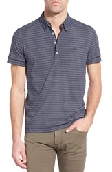 Men's Peter Werth 'Vista' Trim Fit Stripe Polo Navy Navy