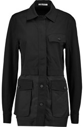 Alexander Wang T By Military Cotton Blend Jacket Black