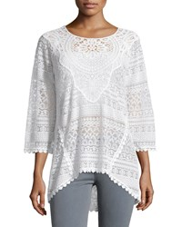 Xcvi Delaney Crochet Sweater White
